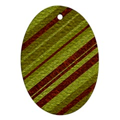 Stripes Course Texture Background Oval Ornament (two Sides) by Nexatart