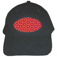 Pattern Abstract Floral Bright Black Cap