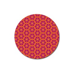 Pattern Abstract Floral Bright Magnet 3  (round)
