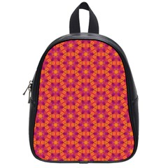 Pattern Abstract Floral Bright School Bags (small)  by Nexatart