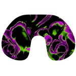 Glowing Fractal B Travel Neck Pillows Back