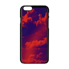Sky Pattern Apple Iphone 6/6s Black Enamel Case by Valentinaart
