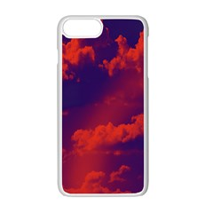 Sky Pattern Apple Iphone 7 Plus White Seamless Case by Valentinaart