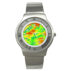 Sky Pattern Stainless Steel Watch by Valentinaart