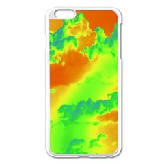 Sky Pattern Apple Iphone 6 Plus/6s Plus Enamel White Case by Valentinaart