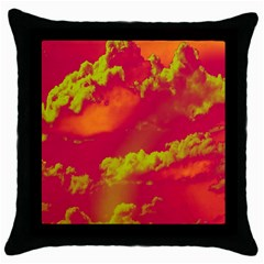 Sky Pattern Throw Pillow Case (black) by Valentinaart