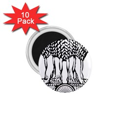 National Emblem Of India  1 75  Magnets (10 Pack)  by abbeyz71