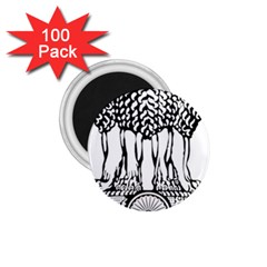 National Emblem Of India  1 75  Magnets (100 Pack)  by abbeyz71