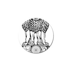 National Emblem Of India  Golf Ball Marker (4 Pack) by abbeyz71