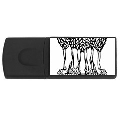 National Emblem Of India  Usb Flash Drive Rectangular (4 Gb) by abbeyz71