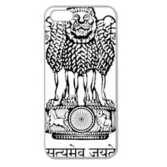 National Emblem Of India  Apple Seamless Iphone 5 Case (clear) by abbeyz71