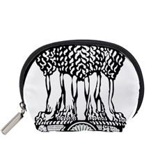 National Emblem Of India  Accessory Pouches (small)  by abbeyz71