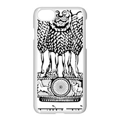 National Emblem Of India  Apple Iphone 7 Seamless Case (white) by abbeyz71