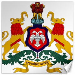 State Seal Of Karnataka Canvas 12  X 12   by abbeyz71