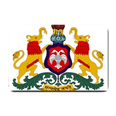 State Seal Of Karnataka Small Doormat  by abbeyz71