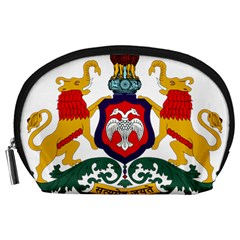 State Seal Of Karnataka Accessory Pouches (large)  by abbeyz71
