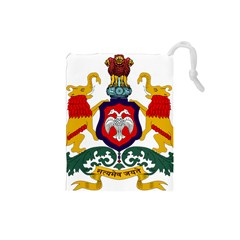 State Seal Of Karnataka Drawstring Pouches (small)  by abbeyz71