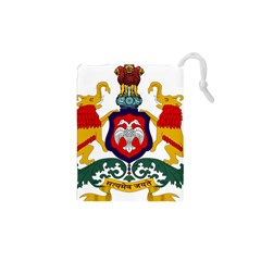State Seal Of Karnataka Drawstring Pouches (xs)  by abbeyz71