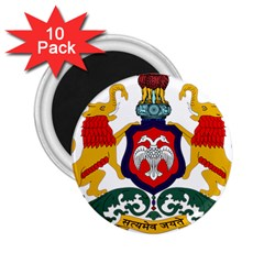 State Seal Of Karnataka 2 25  Magnets (10 Pack)  by abbeyz71