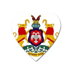 State Seal Of Karnataka Heart Magnet by abbeyz71