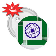 Seal Of Indian State Of Jharkhand 2 25  Buttons (10 Pack)  by abbeyz71