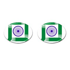 Seal Of Indian State Of Jharkhand Cufflinks (oval) by abbeyz71