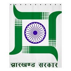 Seal Of Indian State Of Jharkhand Shower Curtain 60  X 72  (medium)  by abbeyz71