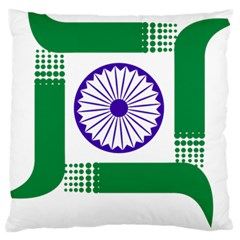 Seal Of Indian State Of Jharkhand Large Cushion Case (two Sides) by abbeyz71