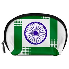 Seal Of Indian State Of Jharkhand Accessory Pouches (large)  by abbeyz71