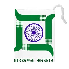 Seal Of Indian State Of Jharkhand Drawstring Pouches (extra Large) by abbeyz71