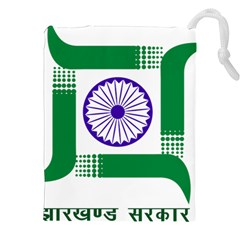 Seal Of Indian State Of Jharkhand Drawstring Pouches (xxl) by abbeyz71
