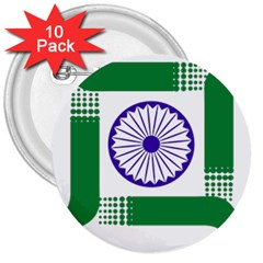 Seal Of Indian State Of Jharkhand 3  Buttons (10 Pack)  by abbeyz71