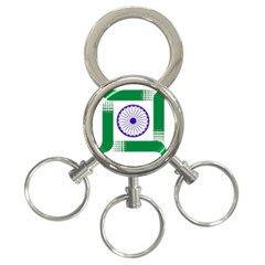 Seal Of Indian State Of Jharkhand 3 Ring Key Chains by abbeyz71