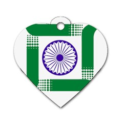 Seal Of Indian State Of Jharkhand Dog Tag Heart (one Side) by abbeyz71