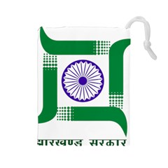 Seal Of Indian State Of Jharkhand Drawstring Pouches (large)  by abbeyz71