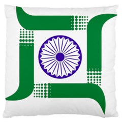 Seal Of Indian State Of Jharkhand Large Flano Cushion Case (one Side) by abbeyz71