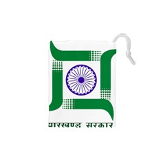 Seal Of Indian State Of Jharkhand Drawstring Pouches (xs)  by abbeyz71