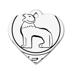 Seal Of Indian State Of Manipur Dog Tag Heart (two Sides) by abbeyz71