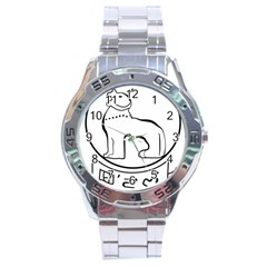 Seal Of Indian State Of Manipur Stainless Steel Analogue Watch by abbeyz71