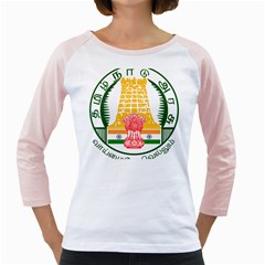 Seal Of Indian State Of Tamil Nadu  Girly Raglans by abbeyz71