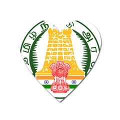 Seal Of Indian State Of Tamil Nadu  Heart Magnet by abbeyz71