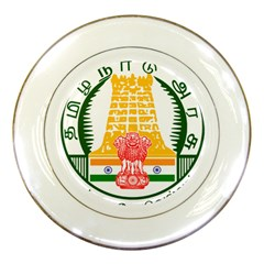 Seal Of Indian State Of Tamil Nadu  Porcelain Plates by abbeyz71