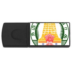 Seal Of Indian State Of Tamil Nadu  Usb Flash Drive Rectangular (4 Gb) by abbeyz71