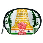 Seal of Indian State of Tamil Nadu  Accessory Pouches (Medium)  Front