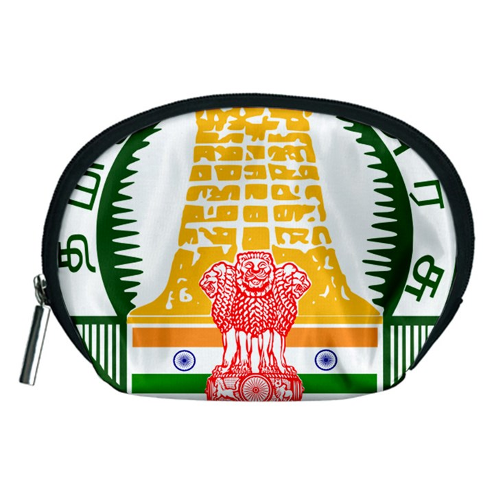 Seal of Indian State of Tamil Nadu  Accessory Pouches (Medium)