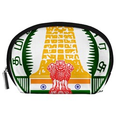 Seal Of Indian State Of Tamil Nadu  Accessory Pouches (large)  by abbeyz71
