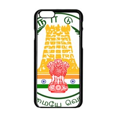 Seal Of Indian State Of Tamil Nadu  Apple Iphone 6/6s Black Enamel Case by abbeyz71