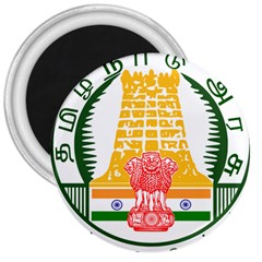 Seal Of Indian State Of Tamil Nadu  3  Magnets by abbeyz71