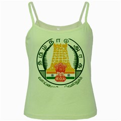 Seal Of Indian State Of Tamil Nadu  Green Spaghetti Tank by abbeyz71