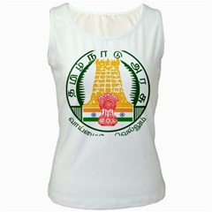 Seal Of Indian State Of Tamil Nadu  Women s White Tank Top